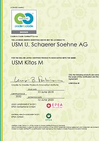 Cradle to Cradle - Certificat USM Kitos M