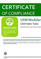 Greenguard Certificate USM Haller Table