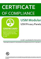 Greenguard Certificate USM Privacy Panels