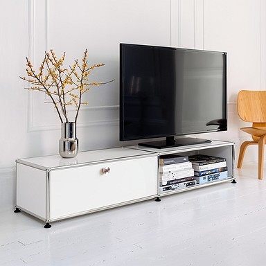 USM Haller pure-whie storage with 3 drawers