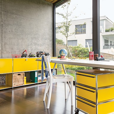 USM Haller Home Office, USM goldgelb, Working Essentials, USM Rollcontainer, USM Sideboard